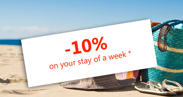 One week reserved: 10% discount